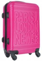 Módní Palubní kufřík Or&Mi Paris/London/NewYork 4 kolečka Fuchsia