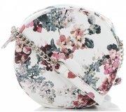 Kabelky Listonošky květinový vzor David Jones Multicolor Bílá