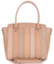 Elegantní Dámská kabelka kufřík David Jones zemitá