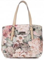 Dámská kabelka kožená kufřík VIttoria Gotti Multicolor béžová