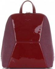Uniwersalne i Eleganckie Plecaczki Damskie firmy David Jones Bordowy