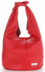 Vittoria Gotti Made in Italy Modny Shopper XL z Kosmetyczką Uniwersalna Torba Skórzana na co dzień Czerwona