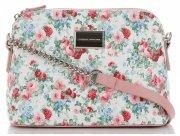 Modna Listonoszka w motyw kwiatów marki Diana&Co Multikolor Pudrowy Róż