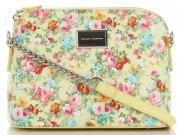 Modna Listonoszka w motyw kwiatów marki Diana&Co Multikolor Żółta