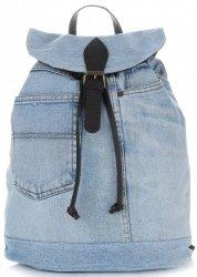Ponadczasowy Jeansowy Plecak Damski frmy Vittoria Gotti Jeans