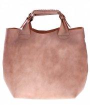 Torebka skórzana Shopperbag z kosmetyczką Ziemia