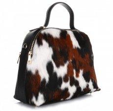 Elegantní Kožená kabelka Made in Italy