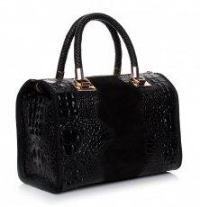 Elegantní kožený kufřík Aligator cčerný