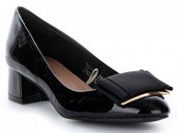 elegantní dámské podpatky Metalic černé