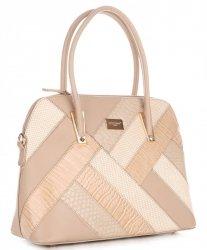 Elegantní Dámská kabelka kufřík David Jones Béžová
