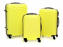 Super sada italských kufrů Or&Mi 3 v 1 žlutý