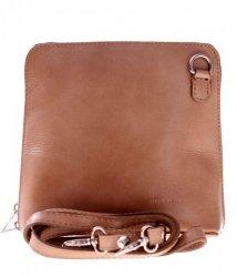 Malá kožená kabelka listonoška Vera Pelle zemitá