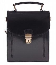 Malá kabelka dokladovka Unisex silná useň černá