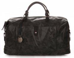 Velké Dámské kabelky XXL Cestovní taška Diana&Co Černá