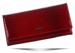 Elegantní dámská kožená peněženka Loren červená