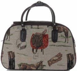 Velká cestovní taška kufřík Or&Mi Horse Multicolor - béžová