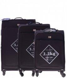 Elegantní sada kufrů Or&Mi 3v 1 Super Light černá