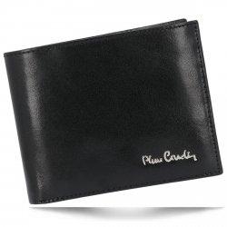 Pierre Cardin Klasyczny Skórzany Portfel Męski Czarny