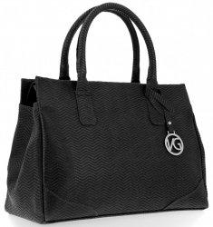 Mały Elegancki Firmowy Kuferek Skórzany firmy Vittoria Gotti Made in Italy Czarny