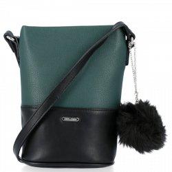 Módna dámska taška na posol so strapcom z fľaše David Jones zelený