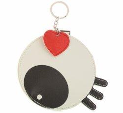 Krúžok na kľúče pre oko peŘaženky Biela čierna