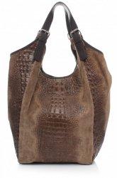 Veľká kožená taška Shopper XXL Alligator Dugout