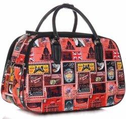 Veľká cestovná taška na cestovanie alebo & Mii Poštové známky viacfarebná-Červená
