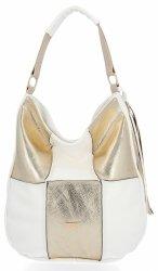 Značkové dámske tašky pre každodenné nosenie od Conci biela s potlačou