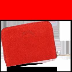 Vittoria Gotti Nositeľná obchodná Kožená peŘaženka Ženy vyrobené v Taliansku Červená