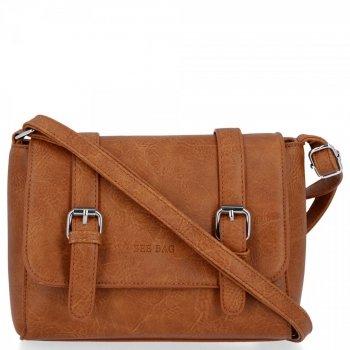 BEE BAG Dámská Kabelka Listonoška Vintage Bag Hnědá