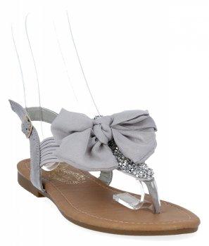 Šedé módní dámské sandály Bellicy