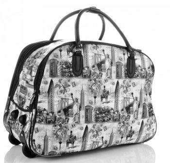 Cestovní taška na kolečkách s výsuvnou rukojetí Or&Mi New York/London Černá