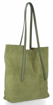 Kožené Dámské Kabelky Shopper Vittoria Gotti Zelená