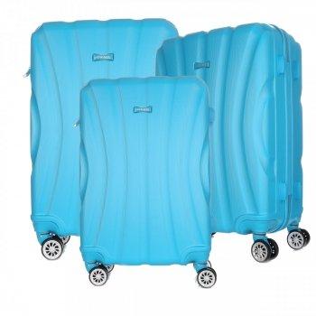 Super sada italských kufrů Or&Mi 3 v 1 Tyrkys