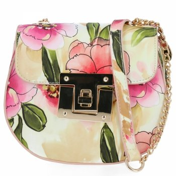 Diana&Co Módní Kabelky Listonošky květinový vzor Práškově Růžová