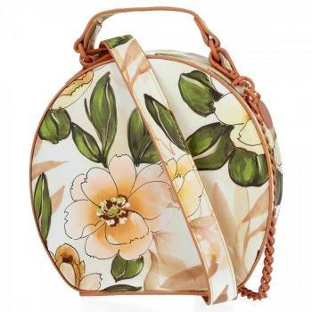Módní Kabelky Listonošky květinový vzor Diana&Co Koralová