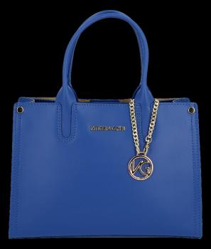 VITTORIA GOTTI Made in Italy Elegantní Dámská kabelka kožená kufřík Kobaltová