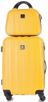 Kufry renomované firmy Madisson Sada 2 v 1 žlutá