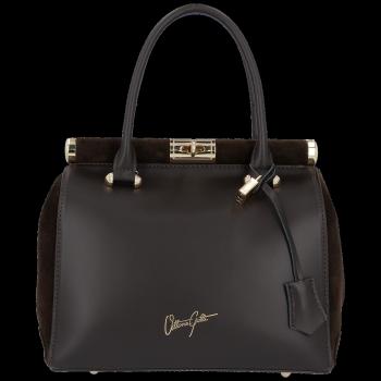 Kožené kabelky kufříky VITTORIA GOTTI Čokoládová