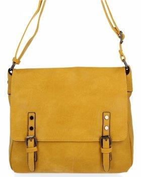 BEE BAG Velká Kabelka Listonoška Adelia Vintage Style Žlutá