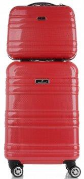 Kufry renomované firmy Madisson Sada 2 v1 Červená