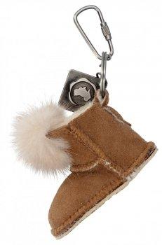 Přívěšek ke kabelce Boty s kožešinkou Zemitý