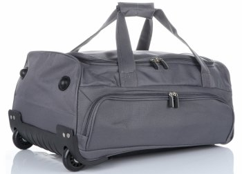 Cestovní taška na kolečkách s teleskopickou rukojetí renomované firmy David Jones šedá
