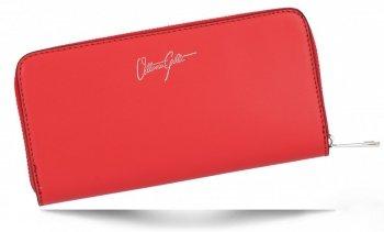 Vittoria Gotti Elegantní Dámská Kožená Peněženka Made in Italy Červená