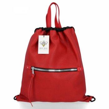 BEE BAG Univerzální Dámská Kabelka Shopper Bag Beatrice Červená