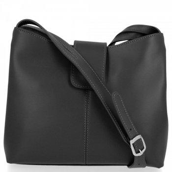 Kožené kabelky 2 přihrádky Černá