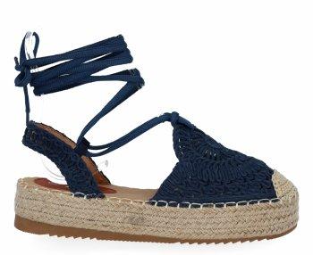 Tmavě modré sandály espadrilky na platformě Bellicy