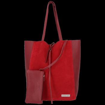 Kožené kabelky VITTORIA GOTTI ShopperBag Bordová