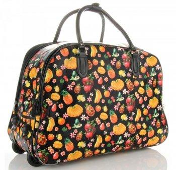 Cestovní taška na kolečkách s výsuvnou rukojetí Or&Mi Passion Fruit Černá