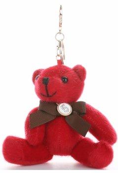 Přívěšek ke kabelce elegantní medvídek červená